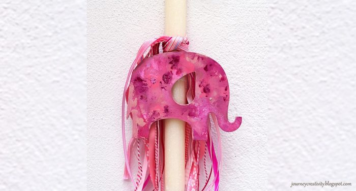 DIY   Λαμπάδα Pink Elephant
