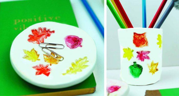 DIY | Φθινοπωρινή μολυβοθήκη & πιατάκι γραφείου