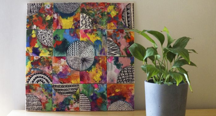 Πίνακας Ζωγραφικής από πολύχρωμα τελάρα!